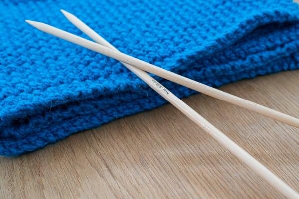 aiguille à tricoter en bois