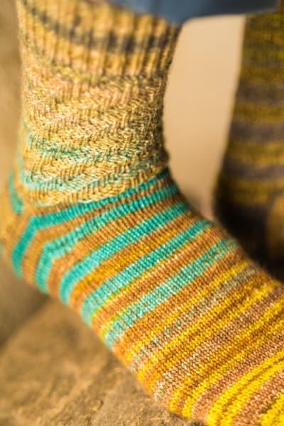 chaussettes multicolores