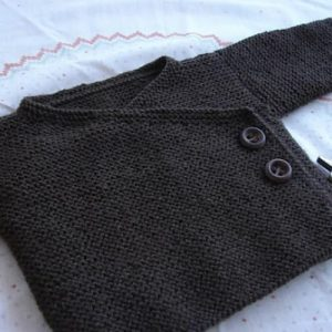 pull gris bébé