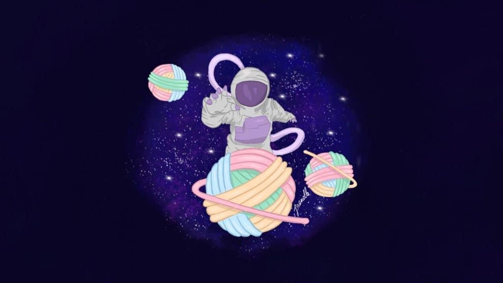 astronaute attrapant une pelote
