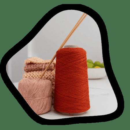 pelote de laine rose