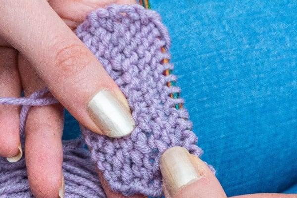 maille double envers en tricot