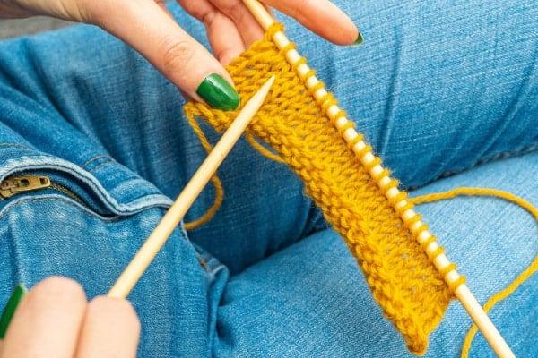 diminution par pair simple au tricot