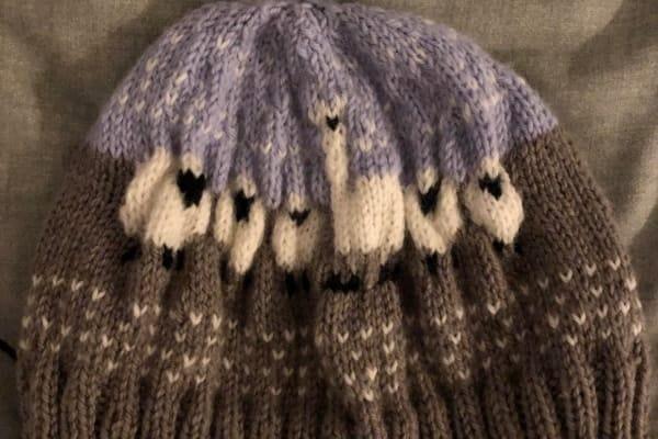 bonnet avec du jacquard