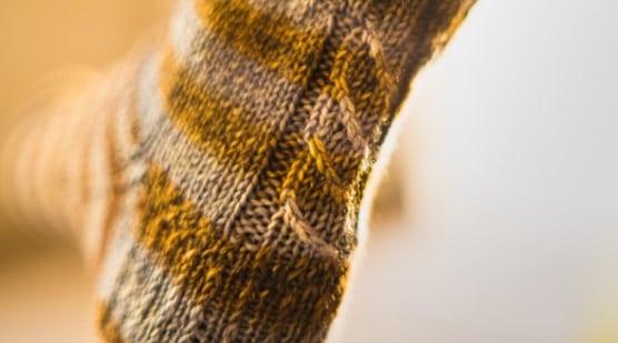 chaussette avec une torsade