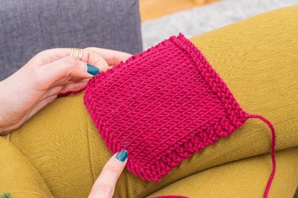 échantillon de tricot