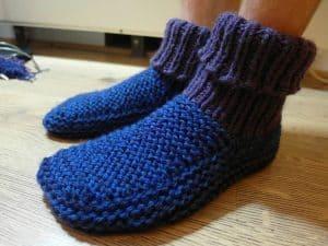 chaussons bleus