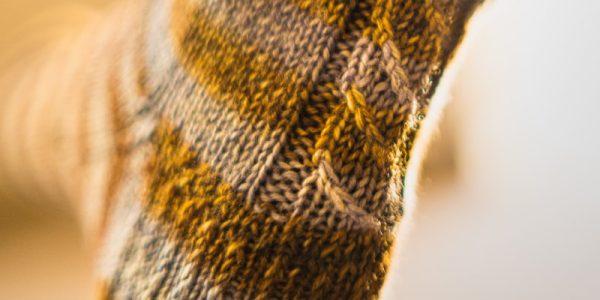 talon d'une chaussette