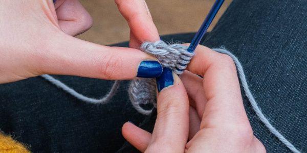 maille lisière en tricot