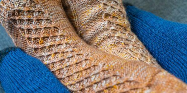 chaussettes avec des torsades