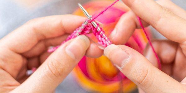 tricot avec aiguilles circulaires