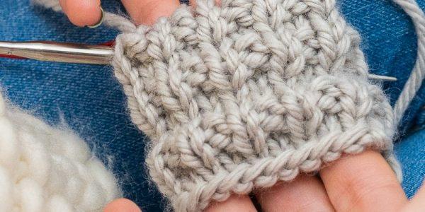 Point de tricot en magic loop