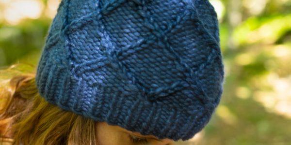 bonnet bleu tricot